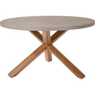 Outdoor-Tisch, rund Beton Natur/Grau - Bild 1