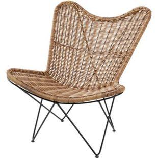 Outdoor-Lounge-Sessel Rattan Natur - Bild 1