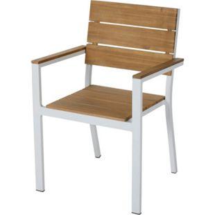 Outdoor-Stuhl Villana Natur/Weiß - Bild 1