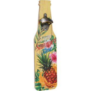 Wand-Deko-Schild Flaschenöffner Gelb - Bild 1