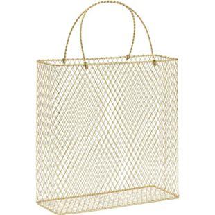 Aufbewahrungskorb Bag Goldfarben - Bild 1