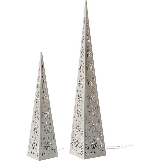 LED-Pyramiden-Set, 2-tlg. Weiß - Bild 1