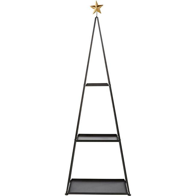 Deko-Regal Weihnachtsbaum Schwarz - Bild 1