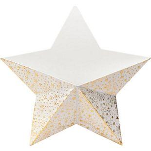 Wand-Pflanztopf Stern Weiß - Bild 1