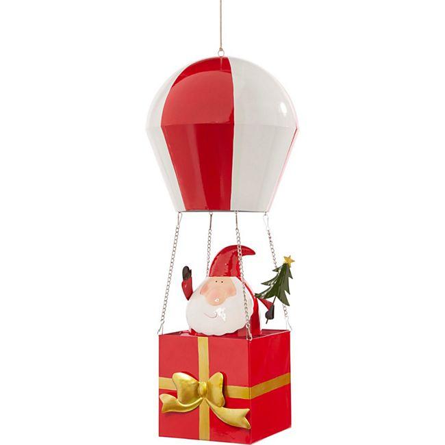 Deko-Objekt Weihnachtsmann Balloon Rot - Bild 1