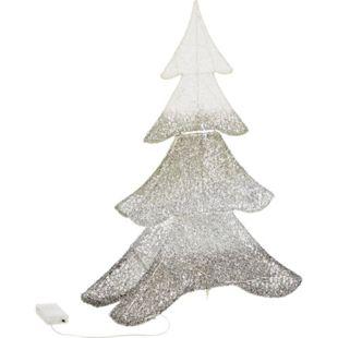 LED-Objekt Glitzertanne Weiß/Silberfarben klein - Bild 1