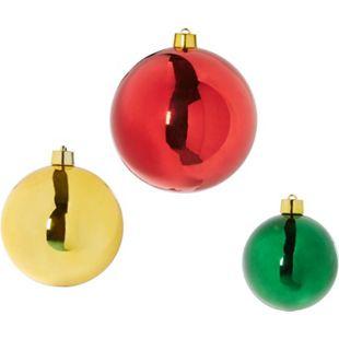 Deko-Objekt-Set, 3-tlg. Weihnachtskugel - Bild 1