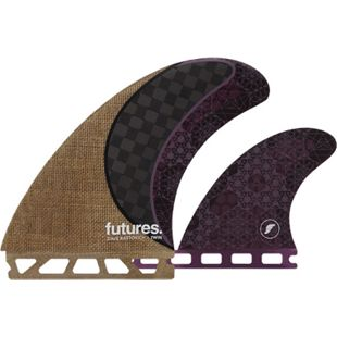"Futures 5.14"" Rasta Honeycomb Carbon Twin Finnen Set - Future Box - Bild 1"