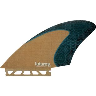 "Futures 4.77"" Rasta Keel Honeycomb Jute Twin Finnen Set - Future Box - Bild 1"