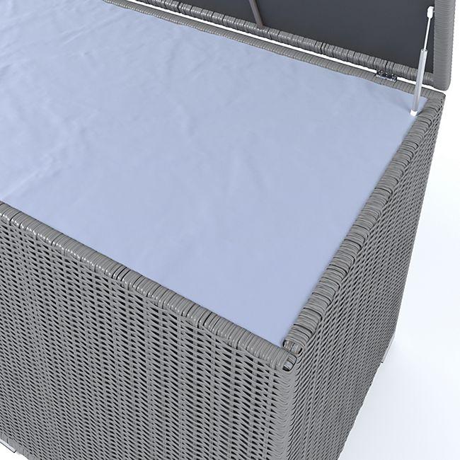 Beliebt XXL Kissenbox wasserdicht Polyrattan 950L Anthrazit Auflagenbox QD97