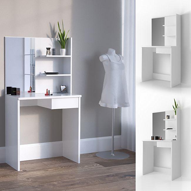 Vicco Schminktisch Dekos Kosmetiktisch Frisierkommode Frisiertisch Spiegel Weiß - Bild 1
