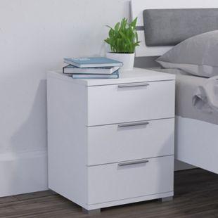 VICCO Nachtschrank Kommode Nachttisch Schublade Ablage 2er Set Schlafzimmer Weiß - Bild 1