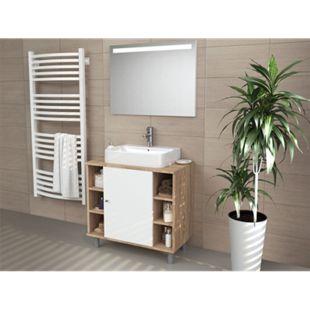 VICCO Waschbeckenunterschrank FYNN Eiche Sonoma Badmöbel Badschrank Unterschrank - Bild 1