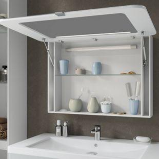 Vicco LED Spiegelschrank Badspiegel Badschrank Spiegel 90 cm Weiß Hochglanz - Bild 1