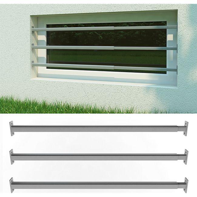 Fenstergitter Sicherheitsgitter Fenster Einbruchschutz Gitter 710-1200mm 3er Set - Bild 1