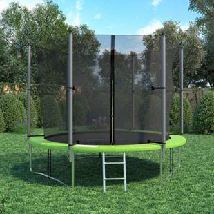 XXL Trampolin Gartentrampolin 305cm Komplettset mit Netz innenliegend + Leiter - Bild 1