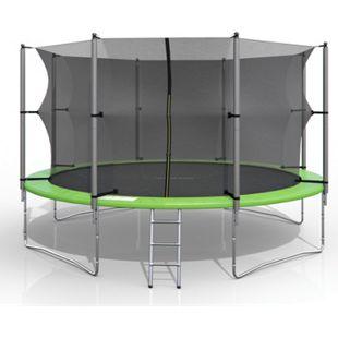 XXL Trampolin Gartentrampolin 366cm Komplettset mit Netz innenliegend + Leiter - Bild 1