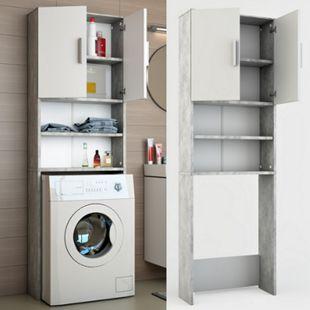 Vicco Waschmaschinenschrank Badregal Hochschrank Waschmaschine 190 x 64 cm Beton - Bild 1