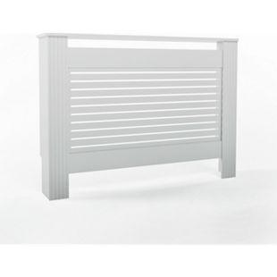 Vicco Heizkörperverkleidung Landhaus Heizungsverkleidung Weiß Horizontal 112 cm - Bild 1