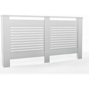 Vicco Heizkörperverkleidung Landhaus Heizungsverkleidung Weiß Horizontal 152 cm - Bild 1