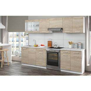 Vicco Küche Küchenzeile Küchenblock Einbauküche 270 cm Sonoma Eiche - Bild 1