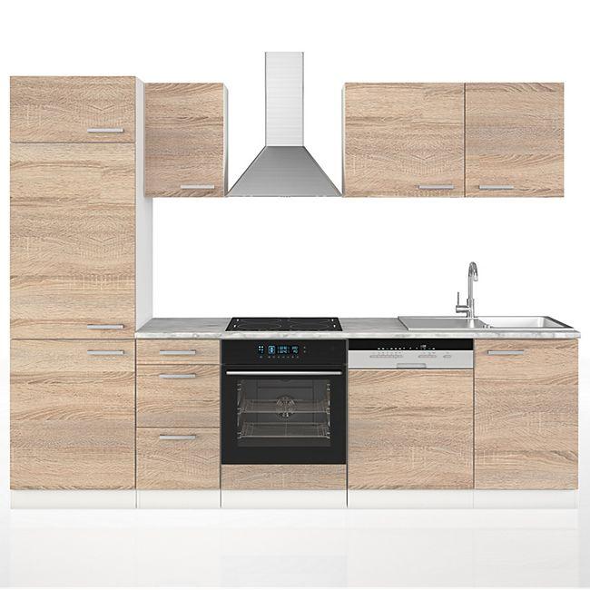 Vicco Küche 270 cm Küchenzeile Küchenblock Einbauküche Sonoma - Bild 1