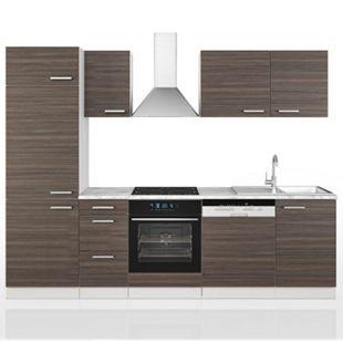 Vicco Küche 270 cm Küchenzeile Küchenblock Einbauküche  Edelgrau - Bild 1