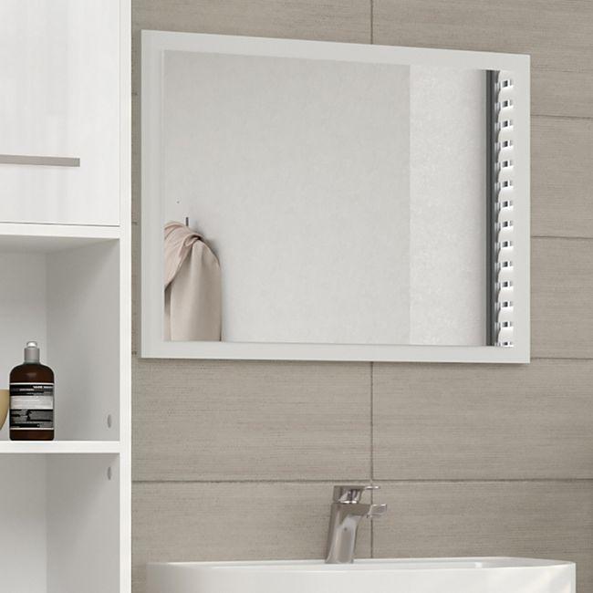 VICCO Badspiegel 45 x 60cm Weiß hochglanz Badezimmerspiegel Spiegel Hängespiegel - Bild 1