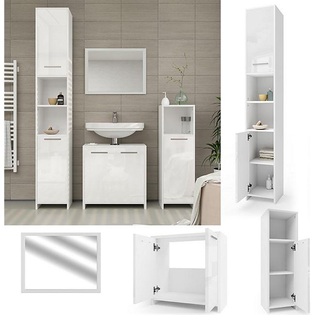 Badezimmer Kommode Weiß Hochglanz 2021