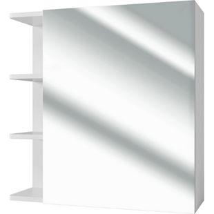 VICCO Badspiegel FYNN 62 x 64 cm weiß - Spiegel Spiegelschrank Wandspiegel - Bild 1