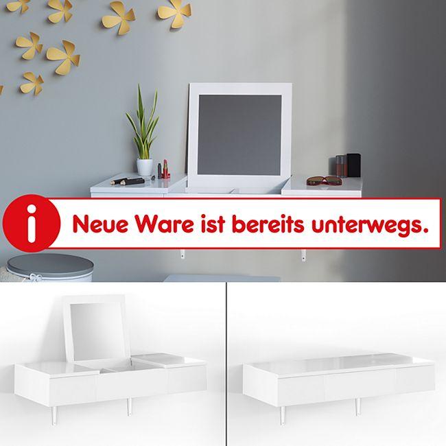 Vicco Schminktisch wandhängend Frisiertisch Kommode Frisierkommode Spiegel Weiß - Bild 1