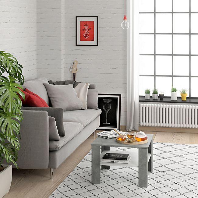 Vicco Couchtisch Homer Beton Weiss 60x60 Cm Wohnzimmer Sofatisch