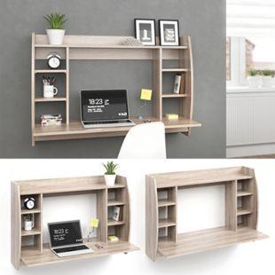 Vicco Wandschreibtisch Max Schreibtisch Wandregal Wandtisch Bürotisch PC  Sonoma - Bild 1