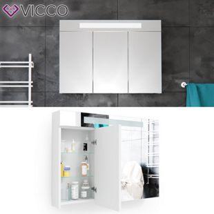 Vicco LED Spiegelschrank Weiß Badschrank Badspiegel Badezimmerspiegel 90 cm - Bild 1