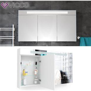 Vicco LED Spiegelschrank Weiß Badschrank Badspiegel Badezimmerspiegel 120 cm - Bild 1