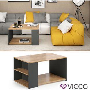 VICCO Couchtisch DARIO in Anthrazit Eiche - Wohnzimmer Sofatisch Kaffeetisch - Bild 1
