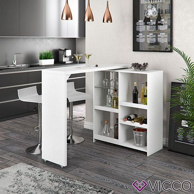 Vicco Bartisch Bartresen drehbar Stehtisch Tisch Tresentisch Bistrotisch  Weiß