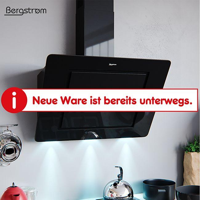BERGSTROEM Ivar Dunstabzugshaube Glas LED Wandhaube Schräghaube kopffrei 90 cm Schwarz - Bild 1