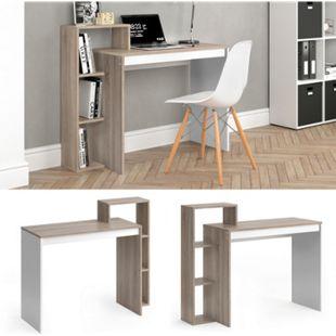 Vicco Schreibtisch Leo Schreibtisch Arbeitstisch Regal PC Tisch Weiß Sonoma - Bild 1