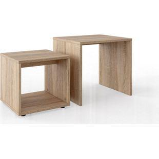 Vicco Couchtisch Set Wohnzimmertisch Beistelltisch Kaffeetisch Sofatisch  Sonoma - Bild 1