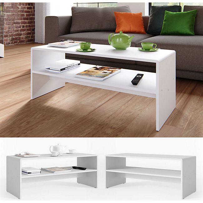 VICCO Couchtisch Weiß Wohnzimmer Sofatisch Kaffeetisch Beistelltisch Tisch - Bild 1