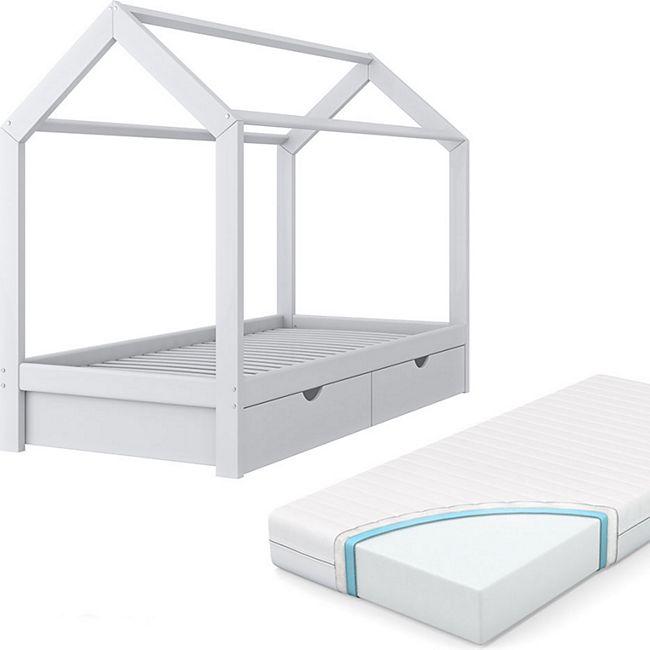 vitalispa kinderbett hausbett schubladen bett holz. Black Bedroom Furniture Sets. Home Design Ideas