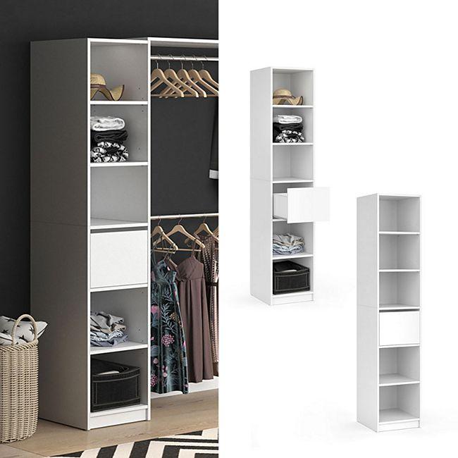Vicco Kleiderschrank Visit Regal Umkleide Schrank Schlafzimmer Schublade Weiss Online Kaufen Bei Netto