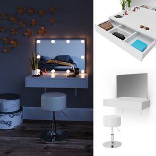 Vicco Schminktisch Alessia Frisiertisch Kommode Frisierkommode Spiegel Weiß inklusive Hocker - Bild 1