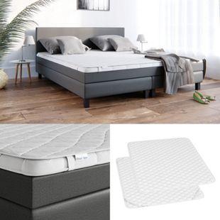 VitaliSpa Matratzenschoner Topper Matratzen-Auflage weiß für Boxpspringbett - Bild 1