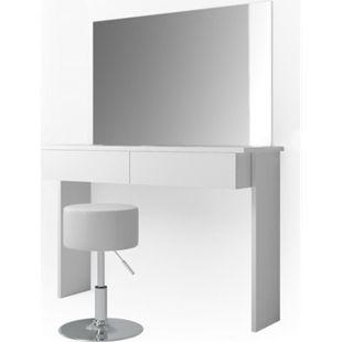 Vicco Schminktisch Azur Kosmetiktisch Frisiertisch Frisierkommode Weiß Hochglanz inklusive Sitzhocker und Spiegel - Bild 1