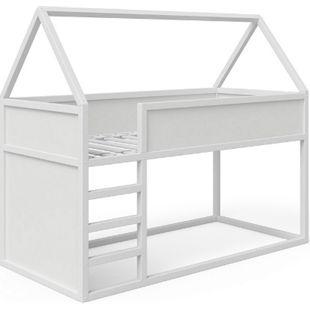 VitaliSpa Haus Pinocchio Hochbett Spielbett Kinderbett Jugendbett 90 x 200 cm Weiß - Bild 1