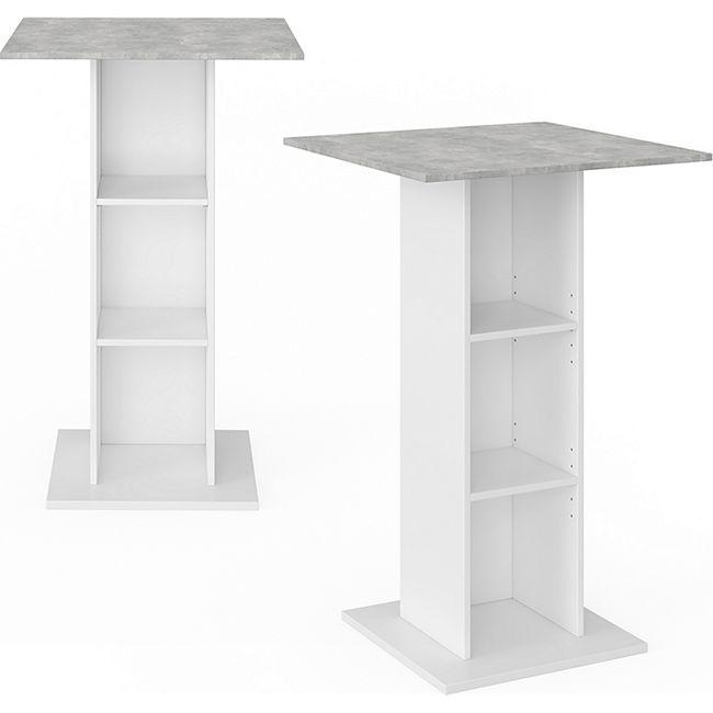 Vicco Bartisch Rodeo Bartresen Stehtisch Tisch Tresentisch Loungetisch Weiß Beton - Bild 1