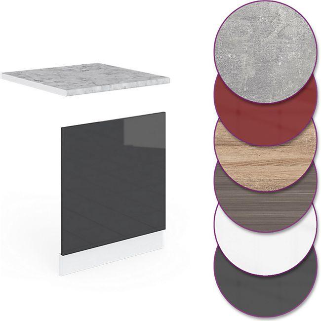 Vicco Küche R-Line Geschirrspülblende 60 cm, verschiedene Farben - Bild 1