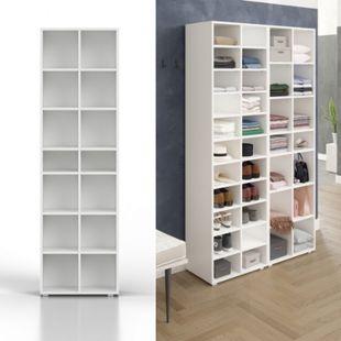 Kleiderregal Schrank Paris weiß - Bild 1